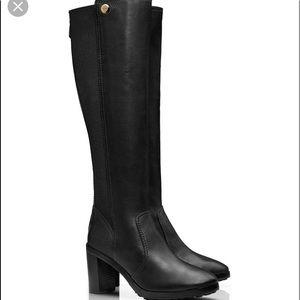 "8cc270bda787 Tory Burch Shoes - TORY BURCH Black Leather ""Sullivan"" Tall Boots"
